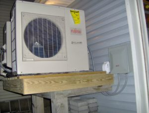 ac ductless heat pumps to replace the flood damaged forced air heating and ac system